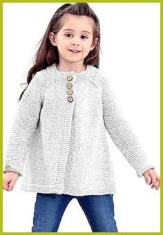 Saifeier PJ Little Girls Crewneck Cardigans Solid Bow Knit Sweaters Button Long Sleeves Coats Kids Knitting Patterns, Baby Cardigan Knitting Pattern, Knitting For Kids, Baby Girl Cardigans, Baby Sweaters, Knit Sweaters, Pullover Outfit, Sweater Cardigan, Quick Knits