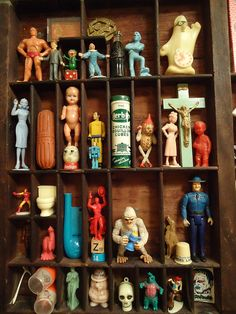 {Trying to find kids toy tips? Collections Of Objects, Displaying Collections, Printers Drawer, Shadow Box Art, Cabinet Of Curiosities, Assemblage Art, Old Toys, Vintage Toys, Crafty