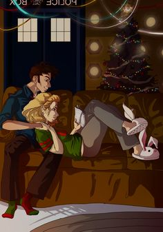 ZOMG SO CUTE. Doctor Who - Tenth Doctor & Rose Tyler at Christmas