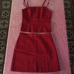 CACHE 2 piece Red gorgeous 2 piece suit. Excellent condition. Cache Dresses
