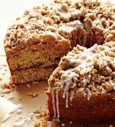 Cinnamon-Streusel Coffee Cake (or banana coconut)