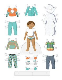 Paper Doll School: Halloween Toddler Fashion Friday - Lucas