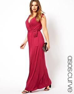 ASOS CURVE Exclusive Grecian Maxi Dress $44