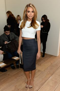 Best Dressed: Naya Rivera : Crop top and midi skirt