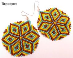 Mona's beadwork: Kaleidoscopic earrings