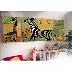 Kids Jungle Wall Panel Art
