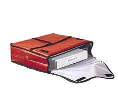 "Pizza Delivery Bag, 20"" x 20"", holds 2-18"" boxes, 1"" thick foam padding, nylon reinforced mylar interior, grommet holes for ventilation, red vinyl exterior, crossed carrying straps http://www.katom.com/166-PB2000.html"