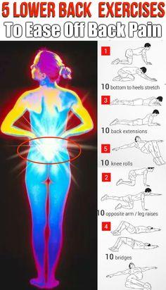 5 Strengthening Exercises for Lower Back Pain Lower Back Pain Exercises, Knee Strengthening Exercises, Hip Pain, Best Lower Back Exercises, Lower Back Injury, Lower Back Muscles, Sciatica Exercises, Low Back Pain Relief, Neck Pain Relief