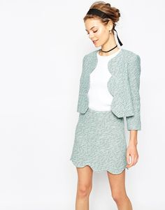 Can't get enought of this Asos Tweedy Blazer with Scallop Edge Co-ord on ShopStyle!