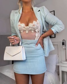 womens fashion Lace Bodysuit - Miss. Classy Outfits, Chic Outfits, Trendy Outfits, Summer Outfits, Fashion Outfits, Womens Fashion, Elegantes Outfit Frau, Outfit Vestidos, Mode Grunge