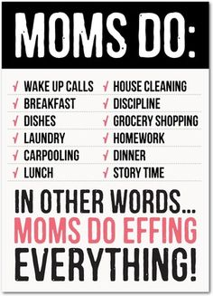 Do-it-all Mom - Mother's Day Greeting Cards - Magnolia Press - Black : Front