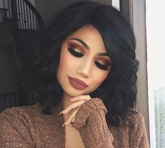 Gorgeous Makeup: Tips and Tricks With Eye Makeup and Eyeshadow – Makeup Design Ideas Flawless Makeup, Skin Makeup, Beauty Makeup, Hair Beauty, Makeup Art, Cute Makeup, Gorgeous Makeup, Tumbrl Girls, Pinterest Makeup