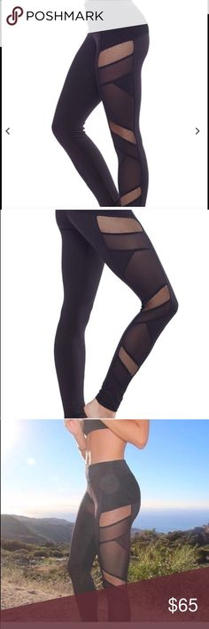 Sexy Mesh Panel Legging Like this for when these become available! Cool off and be trendy with our top selling sexy mesh panel leggings! 88% Polyester, 12% Spandex. MSRP $108. Don't hesitate because they sell out fast. Great gift idea for the holidays or for yourself to be on trend. Any questions can be addressed below. $65 each Electric Yoga Pants Leggings