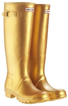 gold hunter boots