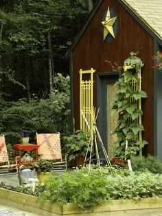 Farmhouse Style Garden Shed