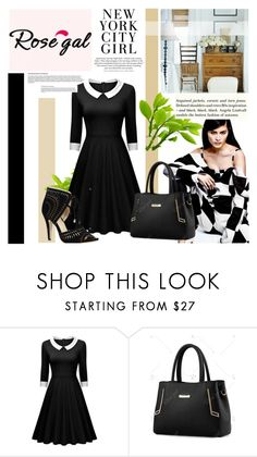 """""""Rosegal 33"""" by followme734 ❤ liked on Polyvore featuring H&M, vintage and rosegal"""