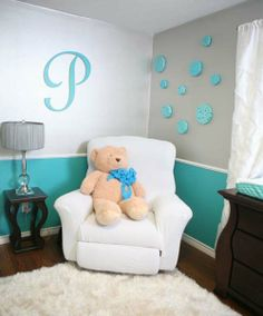 Parker�s Aqua Mint and White Baby Boy Nursery Reveal