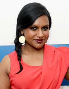 For an elegant twist on the braid, copy Mindy Kaling's effortless style, complete with a deep side part.