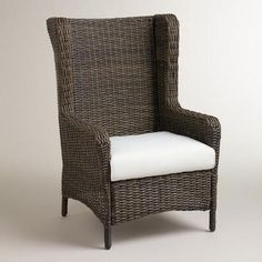 One of my favorite discoveries at WorldMarket.com: Himara All-Weather Wicker Wingback Chair