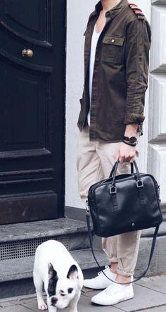stylish Mondays // urban men // mens wear // mens fashion // urban life // city living // puppies // dog // watches // mens accessories // mens bag // work bag //