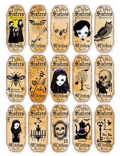 One Blank Dream: Free Halloween apothecary labels