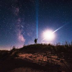Wow! Thanks to Instagrammer @bryanminear for sharing this amazing shot of clear skies and stars over the Sleeping Bear Dunes National Lakeshore. What Michigan destination will you be traveling to next? #PureMichigan #SleepingBearDunes