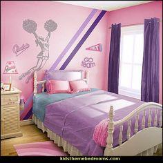 cheerleader theme bedroom decorating ideas