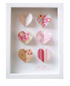 shadowbox hearts