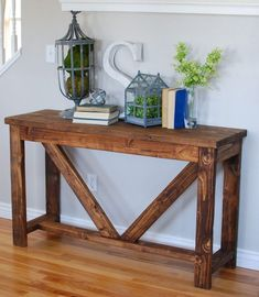 Beautiful Entry Table Decor Ideas to give some inspiration on updating your house or adding fresh and new furniture and decoration. Pallet Entry Table, Outdoor Console Table, Hallway Table Decor, Entryway Console Table, Entry Tables, Entryway Decor, Entry Table Diy, Console Tables Diy, Console Table Living Room