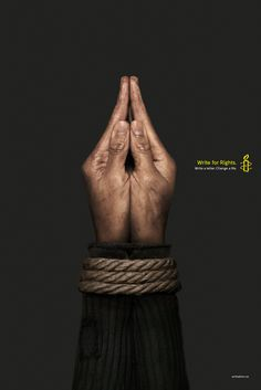 Print advertisement created by Cossette, Canada for Amnesty International, within the category: Public Interest, NGO. Clever Advertising, Social Advertising, Advertising Poster, Advertising Campaign, Advertising Design, Guerrilla Marketing, Street Marketing, Content Marketing, Gfx Design