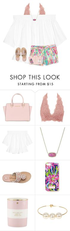 """""""pretty & witty make the perfect pair ;)"""" by preppy-southerngirl ❤ liked on Polyvore featuring MICHAEL Michael Kors, Charlotte Russe, Elizabeth and James, Kendra Scott, Kate Spade and Jules Smith"""