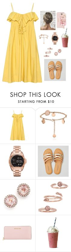 """""""Sin título #955"""" by alondra129 ❤ liked on Polyvore featuring Three Graces, Michael Kors, American Eagle Outfitters, Dana Rebecca Designs, Kendra Scott, MICHAEL Michael Kors and Casetify"""