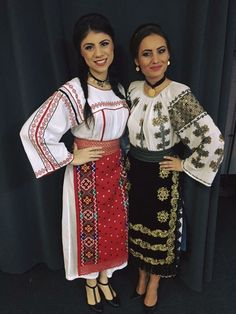 Popular Folk Embroidery Costum popular Romanesc din Dobrogea Traditional Romanian costume from Dobrogea