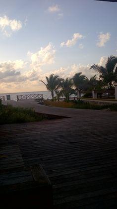 Puerto Morelos jewel of the riviera maya view of stairs to beach - sunrise