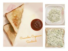 Cucumber capsicum sandwich is easy and quick making recipe. It is a time saver recipe. Best suit for breakfast, Luch, kids tiffin box. #recipe #food #snack #breakfast #cheese #sandwich #cooking