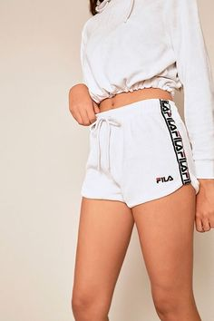 c7e84488d7e1b See more. FILA Montana White Towelling Shorts Teen Shorts, Shorts Outfits  Women, Teen Fashion Outfits,