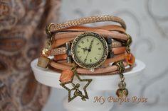 Armbanduhr ★ Wickelarmband Uhr ★ Bettelarmband von My Purple Rose auf DaWanda.com
