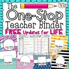 This Teacher Binder and Teacher Planner pages) is Editable and Customizable! You will be getting an editable teacher binder that offers lots of great resources to use throughout the year while keeping you well organized in a stylish way! Teacher Plan Books, Teacher Planner, Teacher Binder, Teacher Organization, Teacher Hacks, Teacher Resources, Binder Planner, Teacher Calendar, Organized Teacher