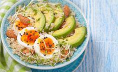 Buddha bowl au quinoa et aux pousses de soja