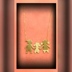 gold necklace family 9k