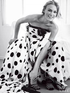 keira knightley in polka-dots.