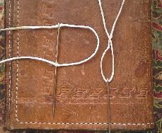 """Comprehensive guide to sewing leather by hand. I really appreciate the """"it's not what you have, it's what you do with what you have"""" approach taken here."""