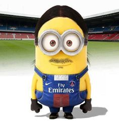 Dit is Zlatan Ibrahimovic, hij voetbalt bij PSG Minions Images, Funny Minion Pictures, Minions Quotes, Football Art, Football Boots, Football Stuff, Football Memes, Pumas, Cristiano Ronaldo