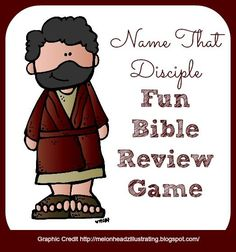 Bible Lessons for Kids: Name That Disciple - A Fun Bible Review Game