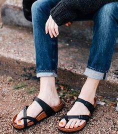 @Who What Wear - Birkenstocks                 Your style: Trendy Your catchphrase: They're not ugly, it's fash-shun.  Shop The Look: Birkenstock Mayari Birko-Flor Sandals ($90)