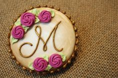 Antiqued Monogram Heart | Cookie Connection