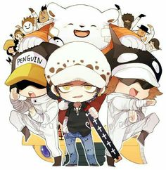 One Piece, Trafalgar Law, Heart Pirates - anime One Piece 1, One Piece Images, One Piece Pictures, One Piece Fanart, One Piece Luffy, One Piece Anime, Anime One, Anime Manga, Heart Pirates