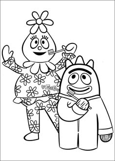 yo gabba gabba 18 coloring page for kids and adults from cartoons coloring pages miscellaneous coloring pages