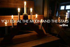 Olet yhtä kuin kuu ja tähdet #Joulu