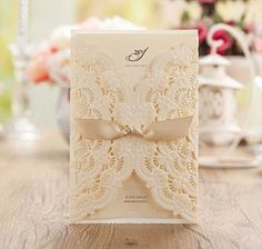 Buy WISHMADE Laser Cut Invitations Cards Kit Beige Printable 50 Count for Wedding Birthday Bridal Shower with Envelopes Seals - Topvintagestyle.com ✓ FREE DELIVERY possible on eligible purchases